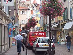 Abres fleuris dans les rues du Puy-en-Velay
