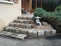 Création d'un escalier en ciment