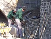 Maçonnerie, mur à Chadrac