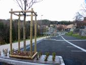 Création de parc et jardin sur un parking à chadrac