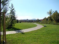 Aperçu d'un parc et jardins après tonte