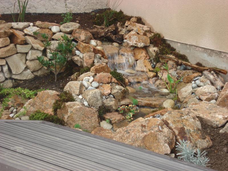 Roche paysage bassin aquatique en haute loire 43 for Construction bassin aquatique